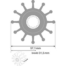 Impeller 09-1027b-1 MC 97